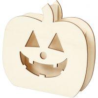 Halloween-Figur, Kürbiskopf, H: 13 cm, Tiefe 3 cm, B: 13,5 cm, 1 Stk