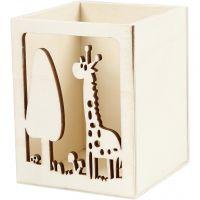 Behälter für Teelicht/Stifte, Giraffe, H: 10 cm, L: 8 cm, 1 Stk