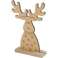 Weihnachtsfiguren, Elch, H: 15 cm, Tiefe 3 cm, B: 11 cm, 1 Stk