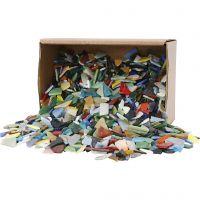 Mosaiksteine, Größe 8-20 mm, Sortierte Farben, 2 kg/ 1 Pck