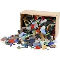 Mosaiksteine, Größe 15-60 mm, Sortierte Farben, 2 kg/ 1 Pck