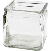 Kerzenglas, H: 10 cm, Größe 10x10 cm, 12 Stk/ 1 Box