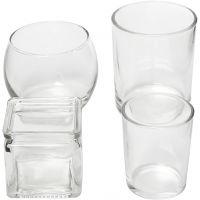 Teelichthalter, H: 5,3-9,2 cm, D: 4,5-7,3 cm, Inhalt kann variieren , 72 Stk/ 1 Box