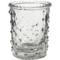 Kerzenglas, H: 7,8 cm, D: 6,4 cm, 100 ml, 6 Stk/ 1 Box