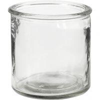 Kerzenglas, H: 7,8 cm, 6 Stk/ 1 Box