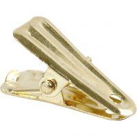 Deko-Klammer, L: 27 mm, B: 14 mm, Gold, 10 Stk/ 1 Pck