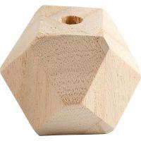 Bead in Diamantform, B: 43 mm, Lochgröße 8 mm, 3 Stk/ 1 Pck