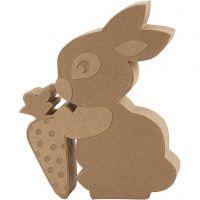 Kaninchen, H: 18 cm, Tiefe 2,5 cm, 1 Stk