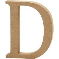 Buchstabe, D, H: 13 cm, Dicke 2 cm, 1 Stk