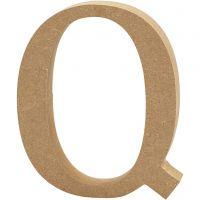 Buchstabe, Q, H: 13 cm, Dicke 2 cm, 1 Stk
