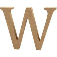 Buchstabe, W, H: 13 cm, Dicke 2 cm, 1 Stk
