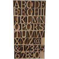 Buchstaben, Zahlen & Zeichen, H: 13 cm, Dicke 2 cm, 160 Stk/ 1 Pck