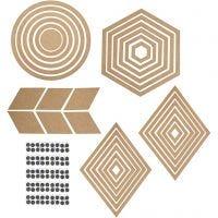 Wanddeko, H: 5,5-29,5 cm, Inhalt kann variieren , 10 Set/ 1 Pck