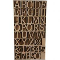 Buchstaben, Zahlen & Zeichen, H: 8 cm, Dicke 1,5 cm, 240 Stk/ 1 Pck