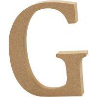 Buchstabe, G, H: 8 cm, Dicke 1,5 cm, 1 Stk