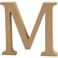 Buchstabe, M, H: 8 cm, Dicke 1,5 cm, 1 Stk