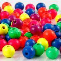 Perlen-Mix in Neonfarben, D: 8 mm, Lochgröße 2,5 mm, Neonmix, 12 g/ 1 Pck