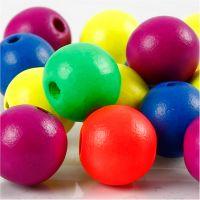 Perlen-Mix in Neonfarben, D: 16 mm, Lochgröße 3 mm, Neonmix, 16 g/ 1 Pck