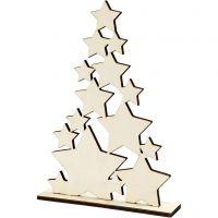 Weihnachtsbaum, H: 29,8 cm, Tiefe 4 cm, B: 21,5 cm, 1 Stk