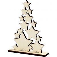 Weihnachtsbaum, H: 19,6 cm, Tiefe 4 cm, B: 14,7 cm, 1 Stk