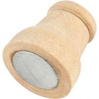 Magnet, H: 13 mm, D: 9-12 mm, 20 Stk/ 1 Pck