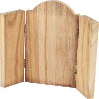 Holz-Triptichon, Größe 18x22 cm, 1 Stk