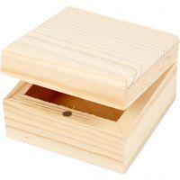 Schmuckkasten, Größe 6x6x3,5 cm, 2 Stk/ 1 Pck