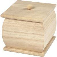 Holzbox mit Deckel, Mini, Größe 7,5x7,5x8 cm, 1 Stk
