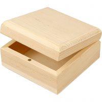 Holzkasten, Größe 9x9x5 cm, 8 Stk/ 1 Pck