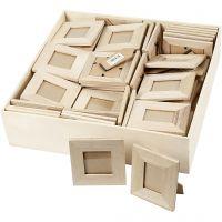 Aufstellrahmen aus Holz, Größe 10x10+9x11 cm, 80 Stk/ 1 Pck