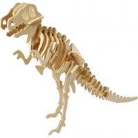 3D-Figuren zum Zusammensetzen, Dinosaurier, Größe 33x8x23 cm, 1 Stk