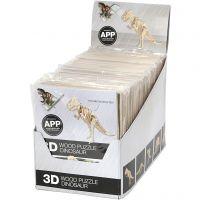 3D-Holzbausätze mit APP, H: 11,5-22 cm, 48 Stk/ 1 Pck