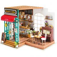 DIY-Miniatur-Zimmer, Kaffeestube, H: 19 cm, L: 22,6 cm, B: 19,4 cm, 1 Stk