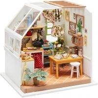 DIY-Miniatur-Zimmer, Küche, H: 18,7 cm, B: 19 cm, 1 Stk