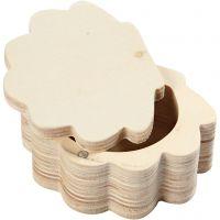 Holzdose, H: 4 cm, B: 8 cm, 1 Stk