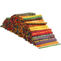Eisstiele mit Lochung, L: 11,4 cm, B: 10 mm, Sortierte Farben, 1000 Stk/ 1 Pck