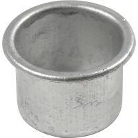 Kerzenhalter, H: 18 mm, D: 25 mm, Lochgröße 22 mm, 12 Stk/ 1 Pck