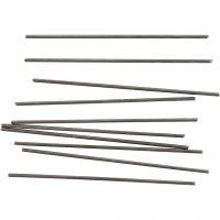 Metallstäbe, L: 10 cm, D: 2 mm, 10 Stk/ 1 Pck
