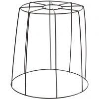 Lampenschirm-Gestell, H: 20 cm, D: 15,5-20 cm, Schwarz, 1 Stk