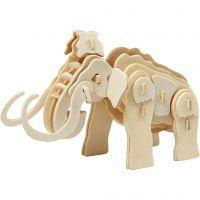 3D-Figuren zum Zusammensetzen, Mammut, Größe 19x8,5x11 cm, 1 Stk