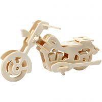 3D-Figuren zum Zusammensetzen, Motorrad, Größe 19x9x9 cm, 1 Stk