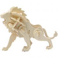 3D-Figuren zum Zusammensetzen, Löwe, Größe 18,5x7x7,3 , 1 Stk