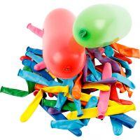 Luftballons, Lang, L: 51+58 cm, 100 Stk/ 1 Pck