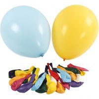 Riesenballons, D: 43 cm, Sortierte Farben, 50 Stk/ 1 Pck