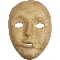 Maske, H: 17,5 cm, B: 12,5 cm, 1 Stk