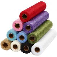 Tischläufer aus Netzgewebe, B: 30 cm, Sortierte Farben, 11x10 m/ 1 Pck