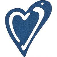 Asymmetrisches Herz, Größe 55x45 mm, Dicke 2 mm, Dunkelblau, 10 Stk/ 1 Pck