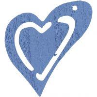 Asymmetrisches Herz, Größe 25x22 mm, Hellblau, 20 Stk/ 1 Pck