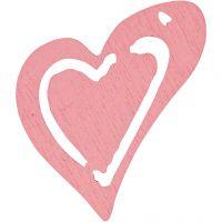 Asymmetrisches Herz, Größe 25x22 mm, Rosa, 20 Stk/ 1 Pck