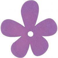 Blume, Größe 57x51 mm, Flieder, 10 Stk/ 1 Pck